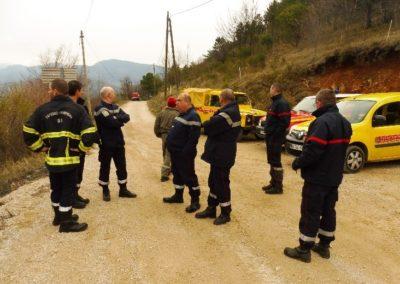 En début de journée : concertation et explication sur les rôles de chaque organisme entre FORCE 06 et les sapeurs-pompiers