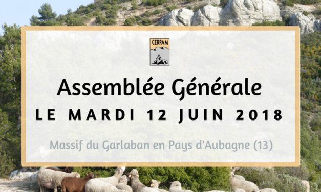 12/06/18 > Assemblée Générale du CERPAM, retenez la date !