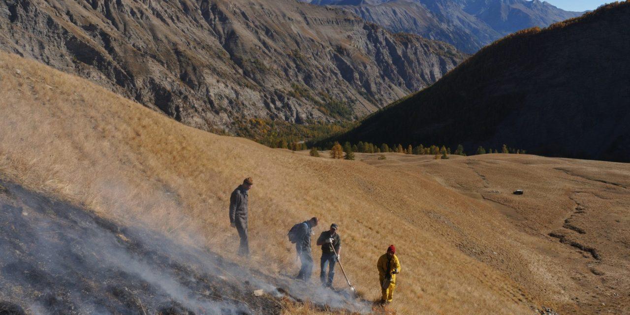 Brûlage de restauration de Queyrel à La Condamine-Châtelard