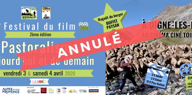 ANNULé : 3 et 4 avril 2020 > 2ème édition du Festival du Film «Pastoralisme d'aujourd'hui et de demain»