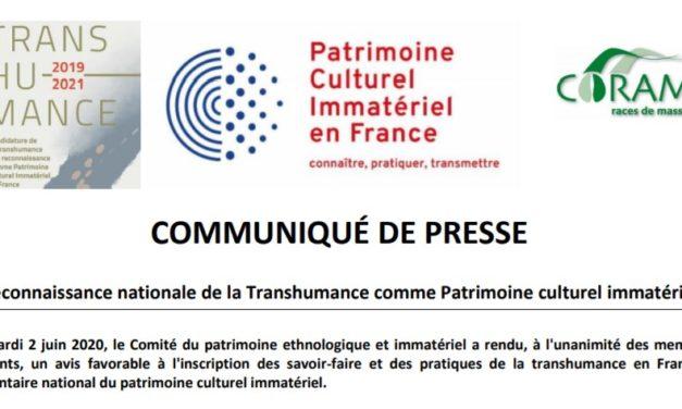 Une 1ère victoire dans la reconnaissance de la Transhumance comme Patrimoine Culturel Immatériel de l'Humanité (UNESCO)